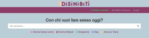 Schermata del Sito Disinibiti.com